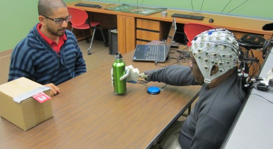 Decoded EEG signals translate into grasp control