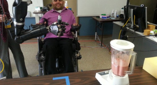 neural implant reads a person's intentions to control robotic arm