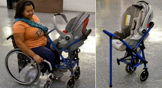 Wheelchair-stroller
