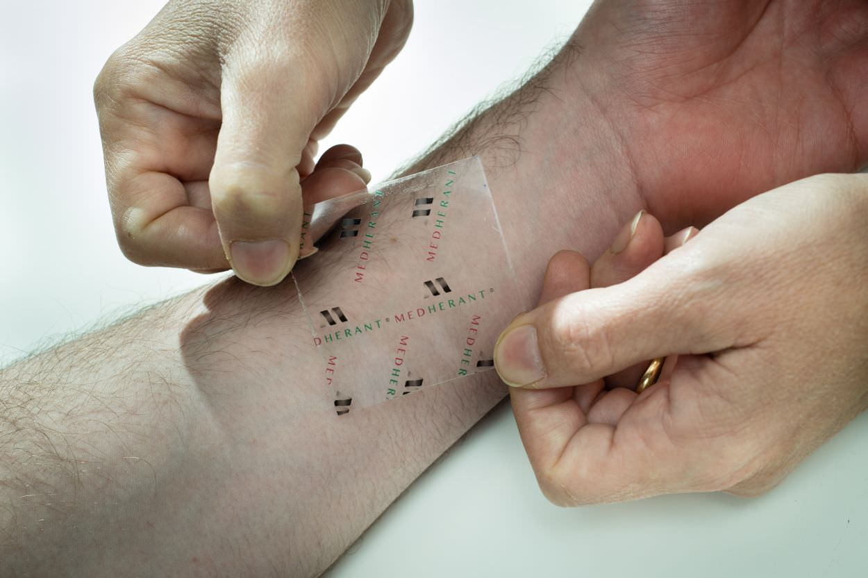 A medicated skin patch